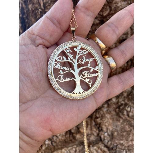 Colar mandala  árvore da vida grande